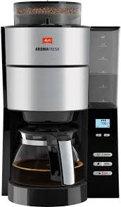 <b>Кофеварка MELITTA Aroma</b> Fresh with Grinder, <b>капельная</b>, черный