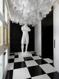 amazing black and white interior design in a new boutique hotel in singapore called the club black white interior design