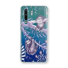 ;639696009 Huawei <b>transparent</b> painted sloth <b>mobile phone</b> case ...