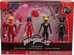 Игровой набор с <b>куклой Miraculous Леди</b> Баг 4 героя с ...
