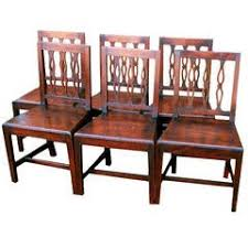 hepplewhite shield dining chairs set: antique set of six oak dining chairs