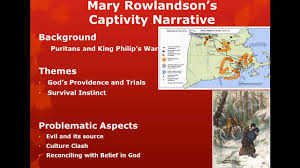 mary rowlandson part i mary rowlandson part i