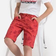 <b>Бермуды</b> с рисунком, 3-12 лет красный наб. рисунок <b>La Redoute</b> ...