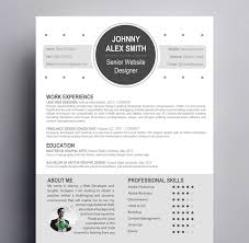 modern resume template for creative careers kukook contemporary resume for creative