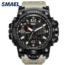 <b>Men Military Watch</b> 50m Waterproof Wristwatch <b>LED</b> Quartz Clock ...