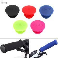 <b>1 Pair</b> Bicycle Handlebar Grip End Plugs <b>Bicycle Grips</b> Caps ...