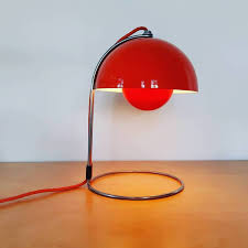 Red VP4 <b>Flowerpot table</b> lamp by Verner Panton for Louis Poulsen ...
