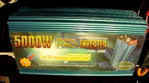 Power Jack <b>5000W Pure Sine Inverter</b> Review - part3/3 - YouTube