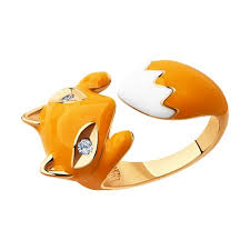 <b>Позолоченное кольцо</b> в виде лисы <b>SOKOLOV</b> – купить в ...