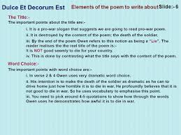 dulce et decorum est notes   more informationdulce et decorum est essay   affordable price         dulce et decorum est essay help   custom writing at   cinikop com tr