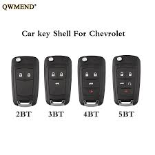 QWMEND 2/3/4/<b>5 Buttons Car Remote Key</b> Case for Chevrolet ...