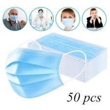 50PCS Medical Mask Disposable Surgical Face Mask 3 Ply ... - Vova