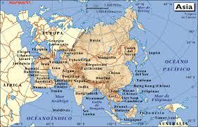 Resultado de imagen de MAPA DE ASIA