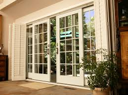 patio sliding glass doors sliding glass doors with some panel which you can use and door frame wood color white