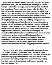The Major Causes Of French Revolution At Essaypedia Com Essay
