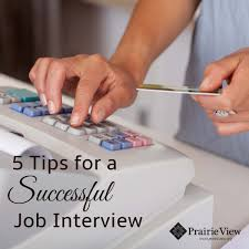 five tips for a successful job interview prairie view 5 tips for successful job interview blog graphic