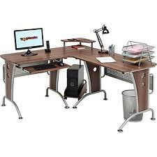 Large Corner Computer Desk With Keyboard Shelf Home Office Piranha Unicorn PC21w