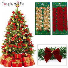 Big Offer #LAH <b>Joy Enlife 12pcs/lot</b> Bow Tie Christmas Tree ...