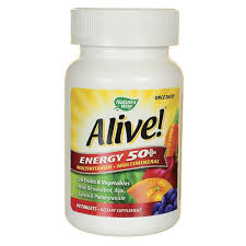 Nature's Way <b>Alive</b>! <b>Energy 50</b>+ <b>Multivitamin Multimineral</b> 60 Tabs ...