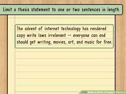 ways to write a thesis statement  wikihow image titled write a thesis statement step