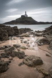 <b>Lighthouse Landscape</b> With Stormy Sky Over <b>Sea</b> With Rocks Stock ...