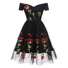 <b>Women</b> Dress, <b>Vintage Floral Lace</b> Off Shoulder Party Valentine's Day