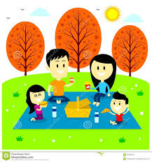 Image result for Family picnic cartoon