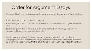 sentence order requirements for paragraphs essays not written order for argument essays 9702 there must be three body paragraphs for any argument essay you
