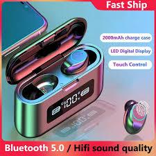 F9-<b>281 Bluetooth</b> 5.0 <b>Earphone TWS Wireless</b> Earbuds <b>Headset</b> ...