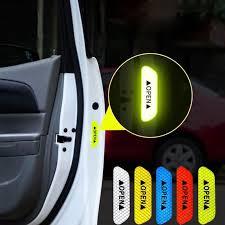 <b>4Pcs</b>/<b>Set</b> Car <b>Door</b> Stickers <b>DIY</b> Car <b>OPEN</b> Reflective Tape Warning ...
