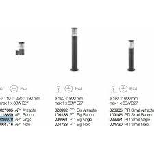 Уличный настенный <b>светильник Ideal Lux TRONCO</b> AP1 GRIGIO ...