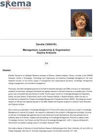 <b>Danièle CHAUVEL</b>. Management, <b>Leadership</b> & Organization ...