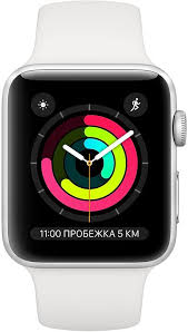 Apple <b>Watch</b> Series 3, 38 мм, корпус из серебристого алюминия ...