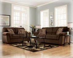 brown couch with pale blue grayish walls brown furniture wall color