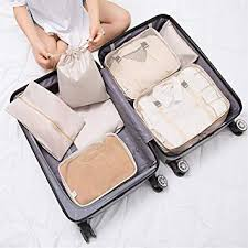 Space Saver Bags Set of <b>7pcs Packing</b> Cubes Travel Organizers ...
