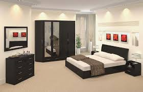 artistic color combinations with black bedding for black furniture