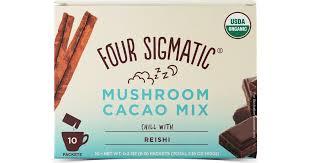 Four Sigmatic <b>Mushroom</b> Hot <b>Cacao Mix with</b> Reishi, 10 Pcs ...