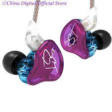 NEW <b>KZ ZST Colorful BA</b>+DD In Ear Earphone Hybrid Headset HIFI ...