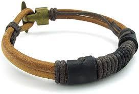 KONOV Mens Leather Rope Bracelet, Tribal Braided ... - Amazon.com