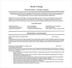 sample real estate resume      download free documents in pdf  wordsample real estate resume