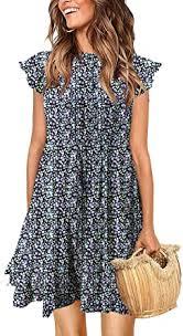 KIRUNDO Women's Summer Dress Sleeveless Ruffle ... - Amazon.com