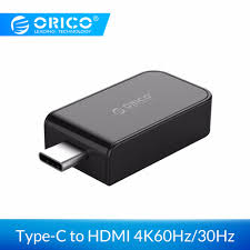 <b>ORICO Type C to</b> HDMI Video Adapter Support <b>4K60Hz</b>/4K30Hz ...