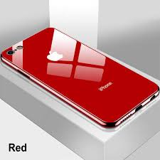 <b>Luxury Tempered Glass</b> Plating Mirror Case Cover For <b>iPhone</b> 7 11 ...