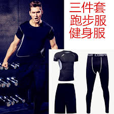 2019 <b>Running</b> Fitness Suit Men'S Fitness Suit Sports Three Piece ...