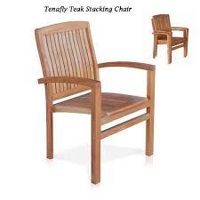 Garden & <b>Patio Furniture 2 pcs</b> Stackable Outdoor Garden Chairs ...