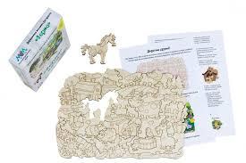 <b>Деревянная игрушка МУМ</b> мозаика-раскраска Ферма ...
