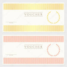 voucher gift certificate template colorful stripy pattern voucher gift certificate template colorful stripy pattern and border background usable for coupon