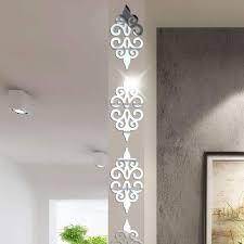 Home Décor 9/<b>16 Pcs</b> Squre <b>Mirror</b> Tile Wall Stickers Mosaic Room ...