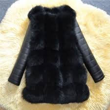 <b>2018</b> Winter <b>New Arrival</b> Warm Women Faux Fox Fur Coat with <b>PU</b> ...