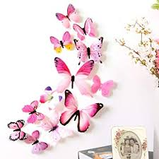 erthome 12 pcs <b>3D</b> DIY <b>Wall Sticker</b> Stickers Butterfly Home Decor ...